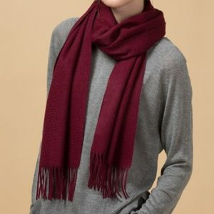 🆕⭐ Burgundy red cashmere scarf